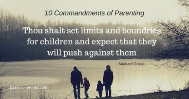10 commandments or parenting