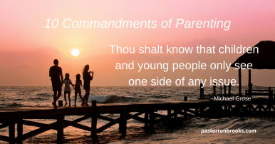10 commandments or parenting
