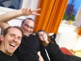 Auch wir können Selfie! In der Pause in Ansbach beim Blauen Kreuz.