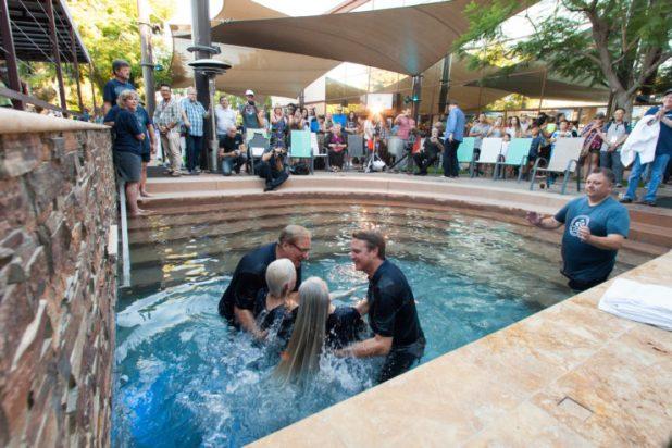 Baptism at Saddleback