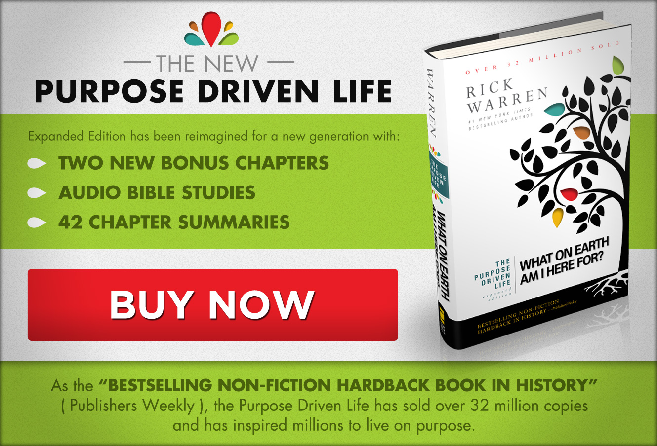 Free Chapter Of The Purpose Driven Life Expanded Edition