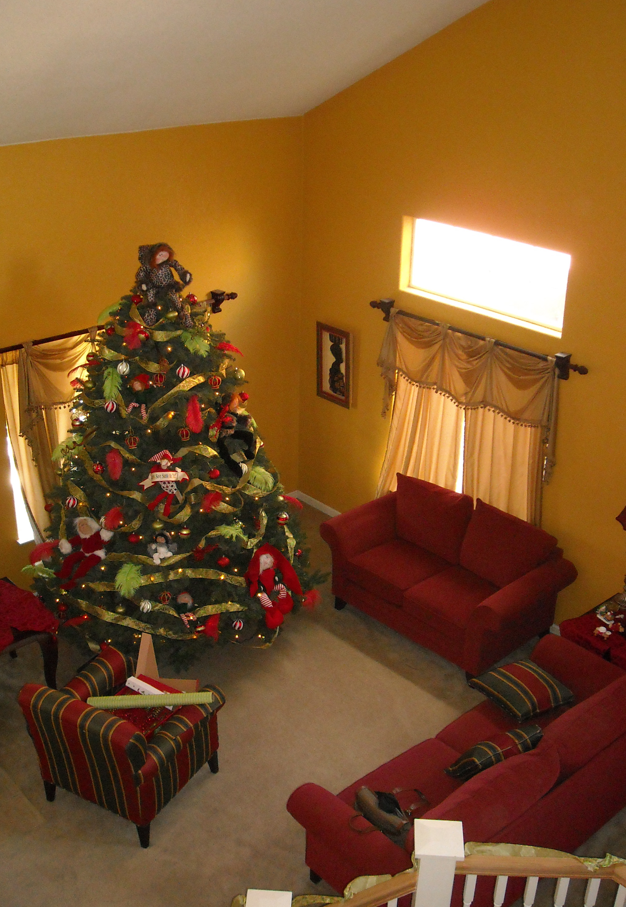 My Christmas Tree before the dogs decided to play tug 'o war with it.