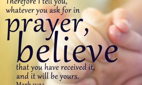 Thought for the Day:  Prayers are Really Powerful