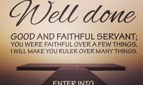 Be Faithful as We Wait for Jesus – The Parable of the Talents