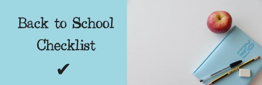 Banner Back to SchoolChecklist
