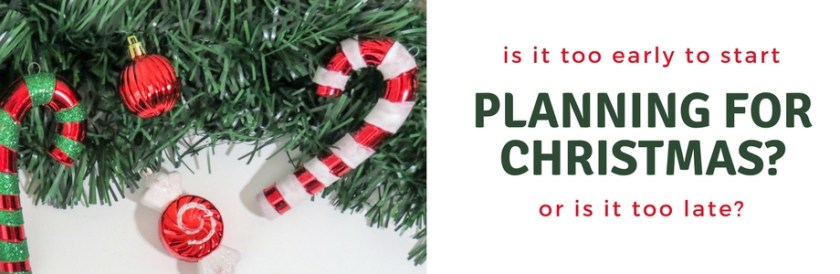 Planning for Christmas - Banner