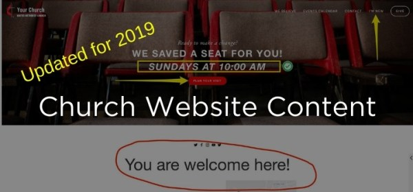 Church Website Content 2019