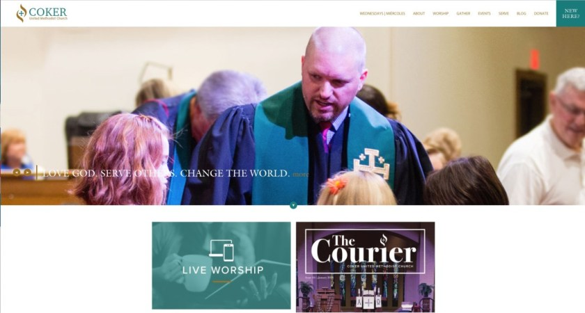Photos are an essential part of church website content.