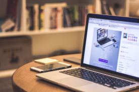 Church website design on a MacBook Pro