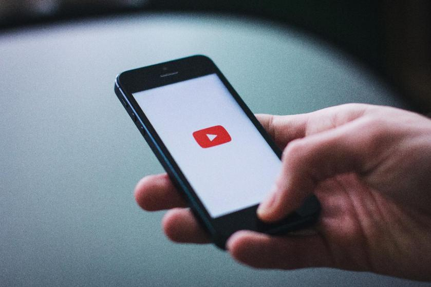 YouTube on a smartphone