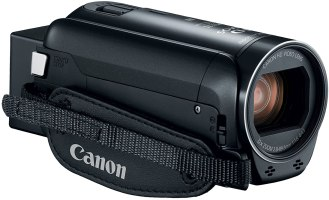 The Canon VIXIA HR R80 Camcorder for church live streaming.