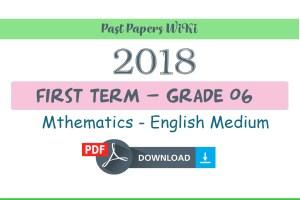 Grade 6 Maths First Term Paper 2018 English medium