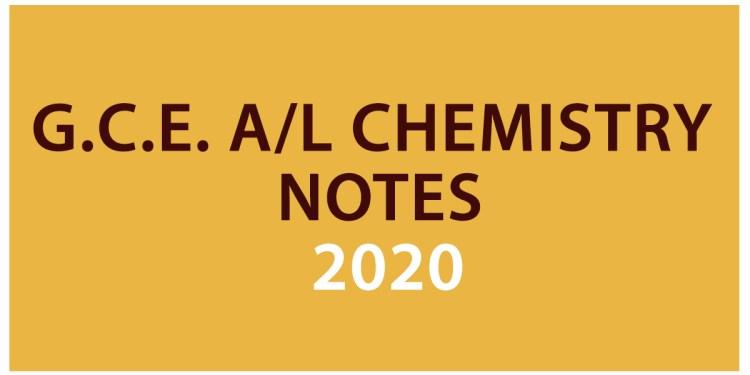 Advanced Level Chemistry Notes