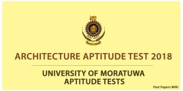 Architecture Aptitude Test 2018 - University of Moratuwa