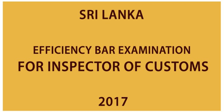 Efficiency Bar Examination for Inspector of Customs
