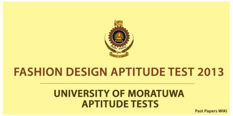 Fashion Design Aptitude Test 2013