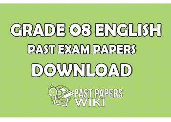 Grade 8 English Past Paper 2019 – 1st Term Test Exam
