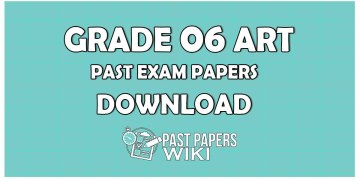 Grade 6 Art Past Paper in Sinhala Medium 2019