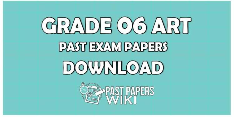 Grade 6 Art Past Paper in Sinhala Medium 2019