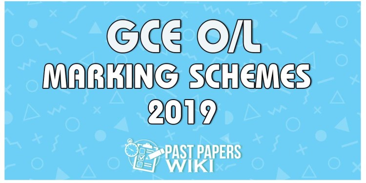 2019 O/L Marking Schemes