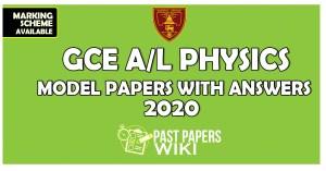 Ananda College Chemistry Third Term Test Paper with marking scheme 2020