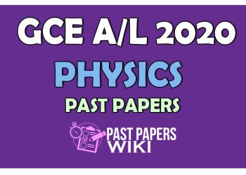 2020 A/L Physics Past Paper and Answers - PastPapers.WIKI