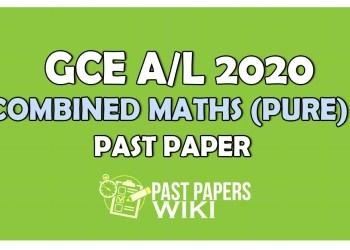 GCE A/L Combined Maths Past paper 2020 | Sinhala Medium