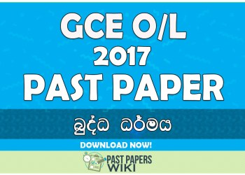 2017 O/L Buddhism Past Paper | Sinhala Medium