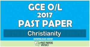 2017 O/L Christianity Past Paper   Tamil Medium
