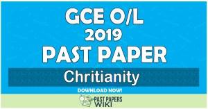 2019 O/L Christianity Past Paper   Tamil Medium
