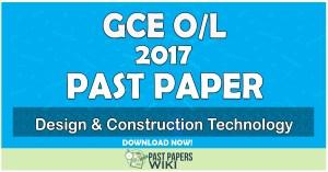 2017 O/L Design & Construction Technology Past Paper   Tamil Medium