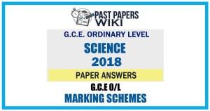 2018 O/L Science Marking Scheme   Tamil Medium