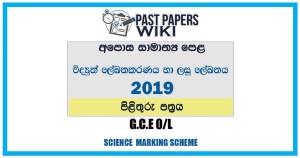 2019 O/L Design Electrical & Electronic Technology Marking Scheme | Sinhala Medium