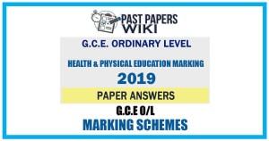 2019 O/L Health & Physical Education Marking Scheme   Tamil Medium