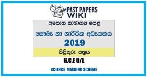 2019 O/L Health & Physical Education Marking Scheme   Sinhala Medium