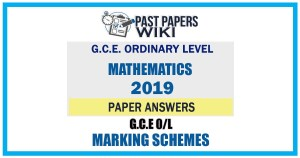 2019 O/L Mathematics Marking Scheme   Tamil Medium