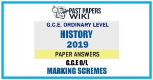 2019 O/L History Marking Scheme | English Medium