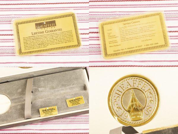 Sheaffer Nostalgia sterling silver floral vine overlay fountain pen gift box set