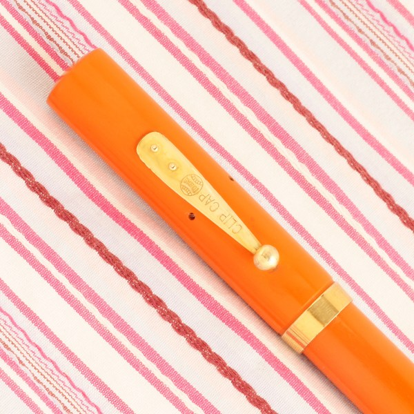 vintage waterman's ideal 52 cardinal red hard rubber fountain pen