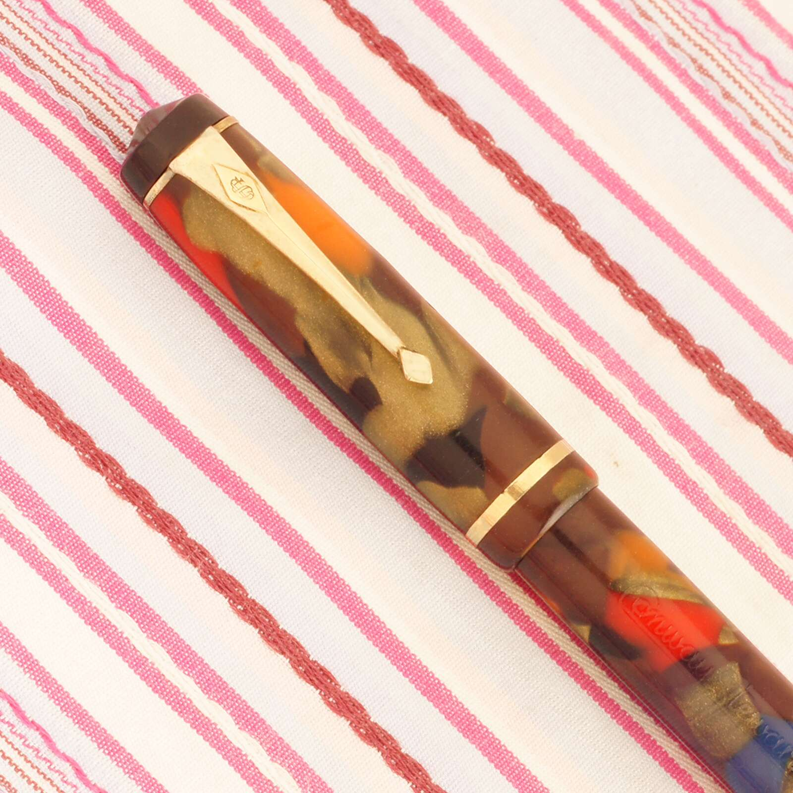 vintage conway stewart dinkie 540 multi-color fountain pen