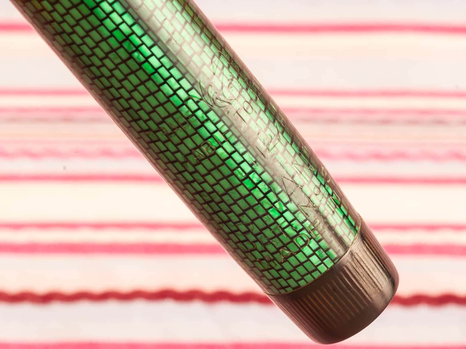 Vintage Mabit Todd Swan Leverless Green Lizard-Snake-skin fountain pen with Swan Metal clip