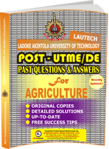 LAUTECH Post UTME Past Questions for AGRICULTURE