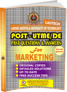 LAUTECH Post UTME Past Questions for MARKETING