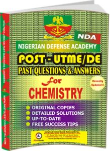 NDA Past UTME Questions for CHEMISTRY