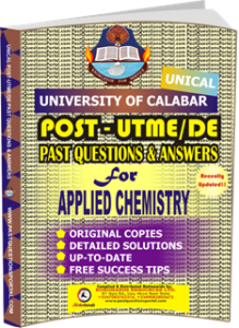 UNICAL Past UTME Questions for APPLIED CHEMISTRY