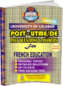 UNICAL Past UTME Questions for FRENCH EDUCATION