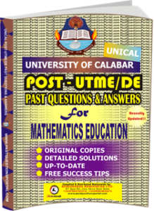 UNICAL Past UTME Questions for MATHEMATICS EDUCATION