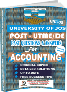 UNIJOS Past UTME Questions for ACCOUNTING