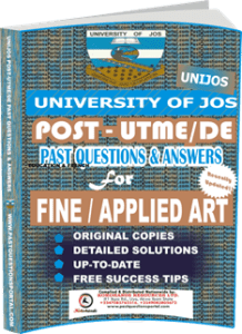 UNIJOS Past UTME Questions for FINE APPLIED ART