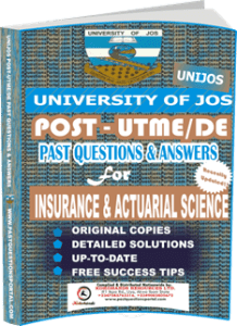 UNIJOS Past UTME Questions for INSURANCE ACTUARIAL SCIENCE